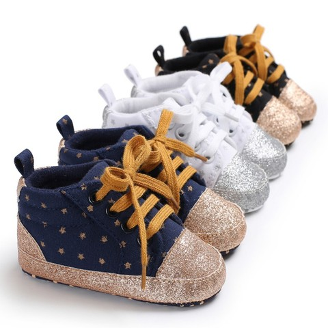 New Kids Children Shoes Baby Boys Girls Casual Shoes Anti-slip Baby Toddler Shoes First Walkers Walking Lace-Up Shoes Lahore