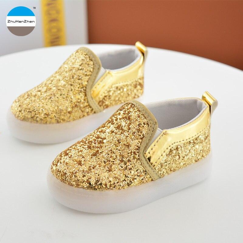 57ee3b15 2018 caliente 1 a 6 años de edad los niños de luz LED Zapatos niños de