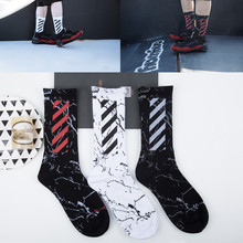 Happy socks men cotton tide brand diagonal stripes street dance Korea skateboard Harajuku autumn winter