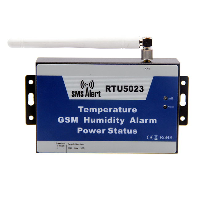 GSM 3G Temperature Humidity Environment Alarm Power Lost SMS Alert Remote Monitoring DC Power Timer Report APP Control RTU5023