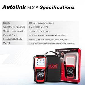 Image 4 - Autel otomatik bağlantı AL519 OBD2 tarayıcı araç teşhis aracı OBDII otomatik tarayıcı kod okuyucu tarayıcı daha iyi elm 327 v1.5