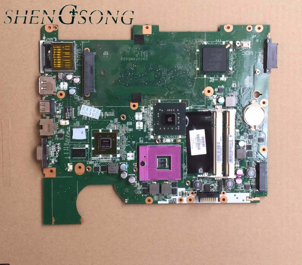 for HP compaq presario CQ61 G61 motherboard 517837-001 laptop motherboard DA00P6MB6D0 PM45 chipset free shipping ноутбук hp compaq 15 ay044ur