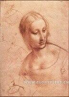 ดาวินชีต้นฉบับ-ภาพหญิงภาพวาดบริสุทธิ์ผ้าฝ้ายผ้าใบผนังศิลปะรูปภาพตกแต่งบ้านห้องนั่งเล่น...