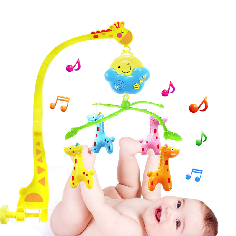 New Cartoon Deer Newborn Music Rotating Bed Bell Baby -4181