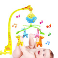 New cartoon deer newborn music rotating bed bell baby rattles  0-1 year-old baby bedside hanging bell baby rattles toys