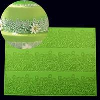 39*29 см Большой размер цветок торт плесень украшения помады силиконовые формы сахар кружева коврик тиснение плесень