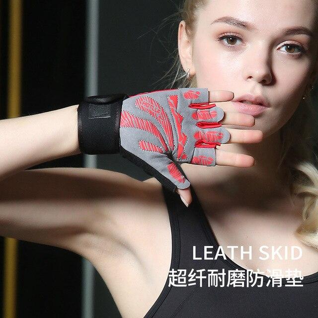 Nam/nữ Thể Thao Găng tay thể hình bảo vệ Cổ Tay tập gym thể hình cử tạ Yoga đi xe đạp chống trượt ngón trang thiết bị tập luyện