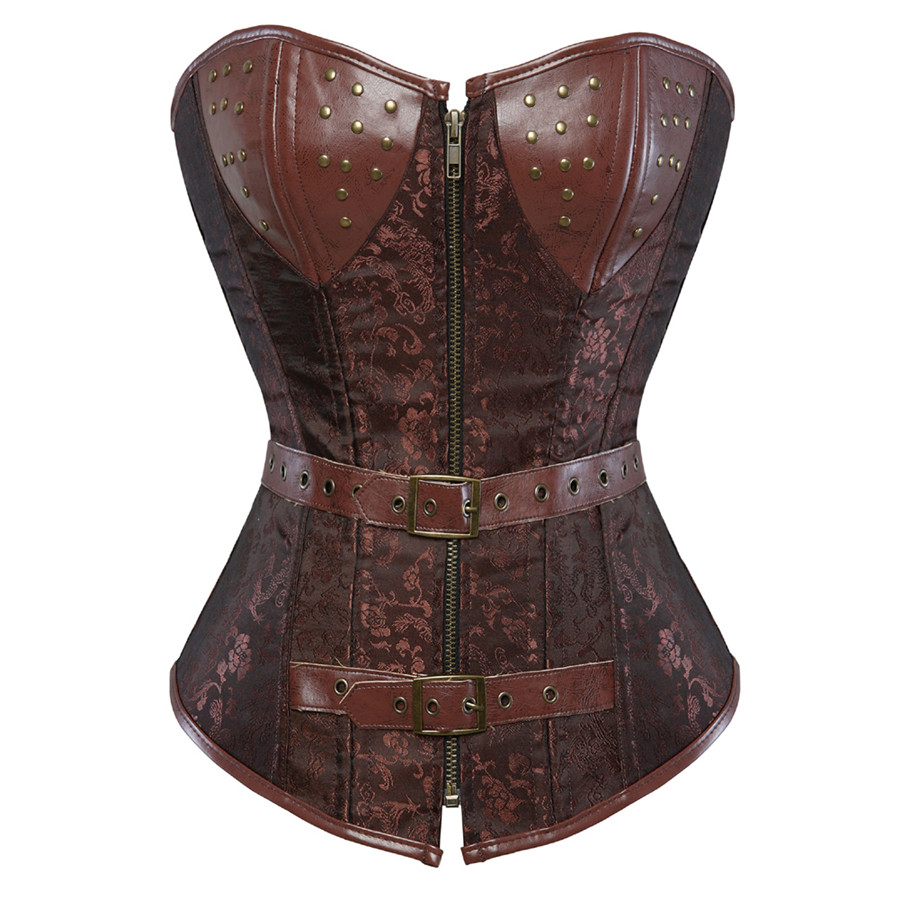 Corset leather jacket