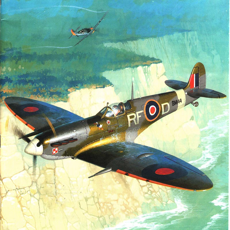 1:24 DIY Paper Model Supermarine Spitfire Mk.Vb Aircraft Pepercraft Military Funs Gifts Boy Birthday Presents Puzzle Game