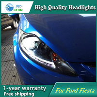 Auto Clud Style LED Head Lamp For Frod Fiesta 2009 2012 Led Headlights Signal Led Drl