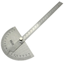 0-180 Degree Rotary Protractor Angle Ruler Stainless Steel Round Head Adjustable Measuring & Gauging Tools Measurement Rulers