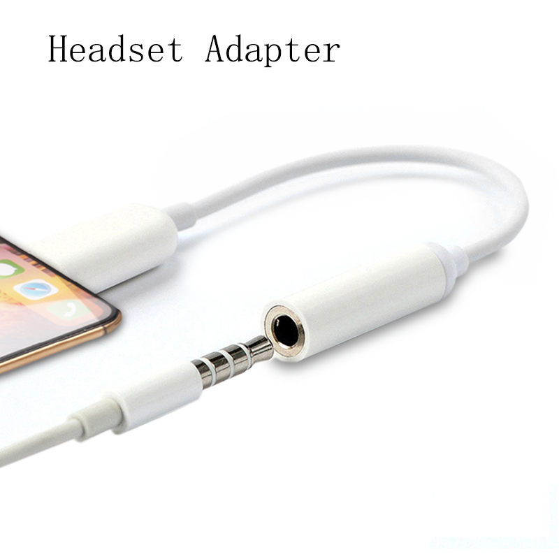 For IPhone Lighting 3.5mm Audio Jack Splitter Converter Earphone Headphone Adapter For IPhone 7 8 XS Max X AUX Adapter Adaptador(China)