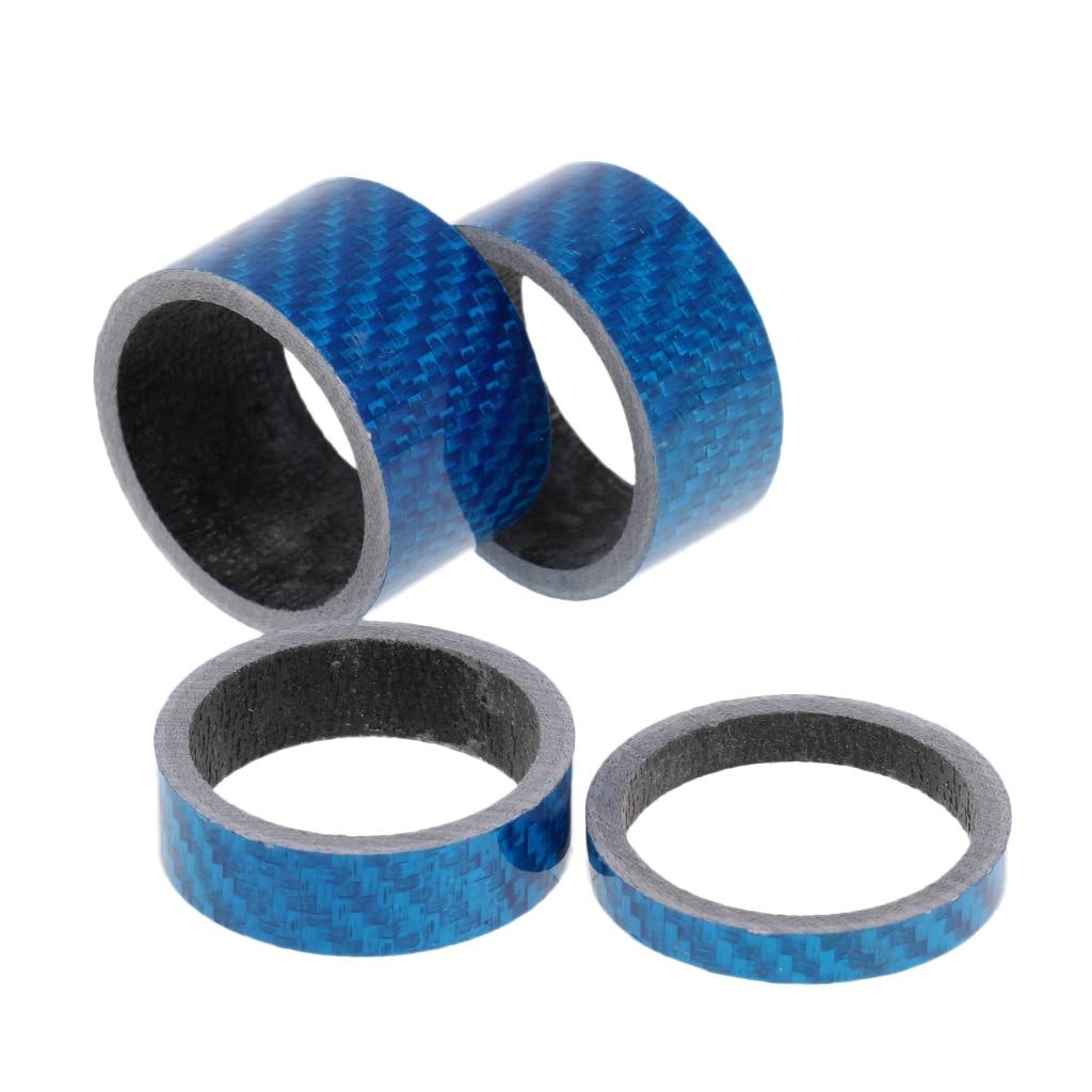 """Bike Bicycle Headset Stem BLUE Carbon Fiber Spacer 1-1//8/"""" 5mm"""
