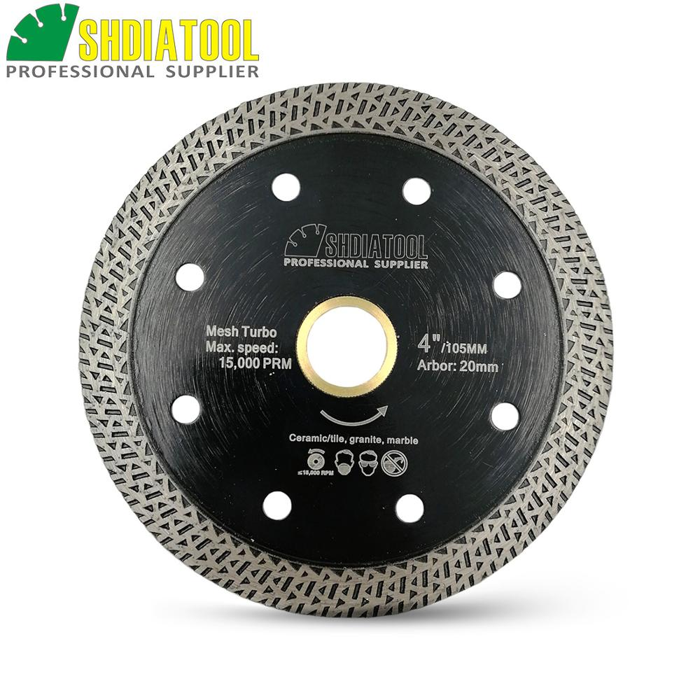 "Dia 4""/ 4.5""/ 5"" Hot Pressed Sintered Mesh Turbo Diamond Saw Blades Porcelain Tile Cutting Disc Marble Circular Saw Blade"