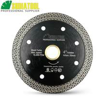 "Dia 4 ""/ 4.5""/ 5 ""Hot Geperste Gesinterde Mesh Turbo Diamant Zaagbladen Porselein Tegel Snijden disc Marmer Cirkelzaagblad(China)"