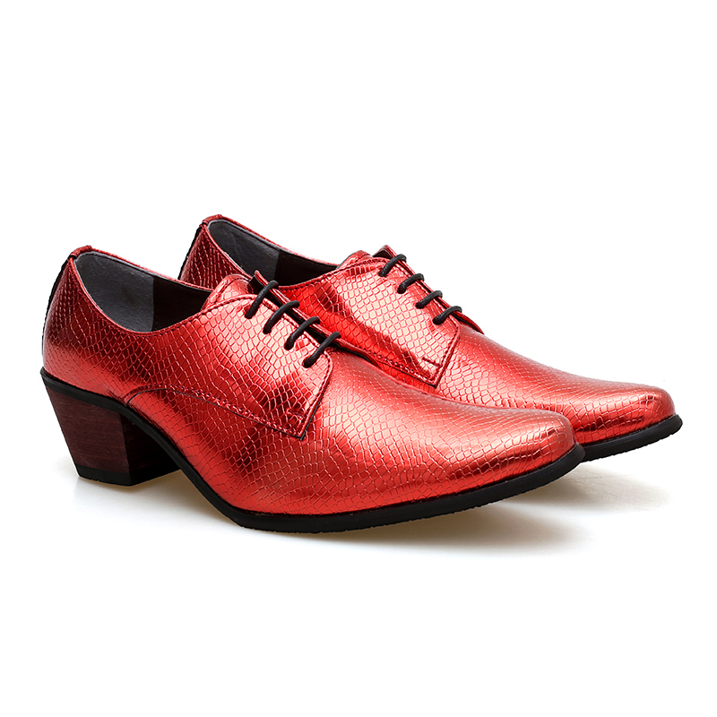 863797cb86d US $79.87 |Serpentine Pattern Formal Leather Shoes For Men High Heels Dress  Wedding Derby Shoes Business Casual Shoes-in Formal Shoes from Shoes on ...