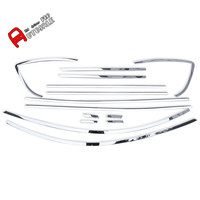 stainless steel Window Sill Frame Full Kit Covers without Pillars 14pcs For Mazda CX 5 CX5 2012 2013 2014 2015