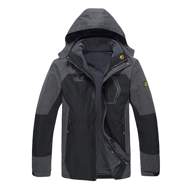 ФОТО Removable fleece liner twinset outdoor jacket men's three-in outdoor waterproof clothing plus size  =YcfM3