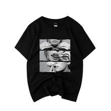 2019 Spring and Summer Causal T Shirts Women Smoking Printing Woman Loose Tops Hip Hop Style Tshirt