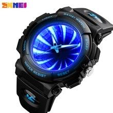 SKMEI montre Bracelet de Sport à Quartz pour hommes, étanche, luxe, rétro éclairage, tendance, LED
