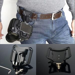 """Image 1 - חדש 1/4 """"בורג מצלמה שחרור מהירה נרתיק מותן אבזם חגורת לחץ הר קליפ מחזיק קולב רצועה לdslr Canon Nikon Sony"""