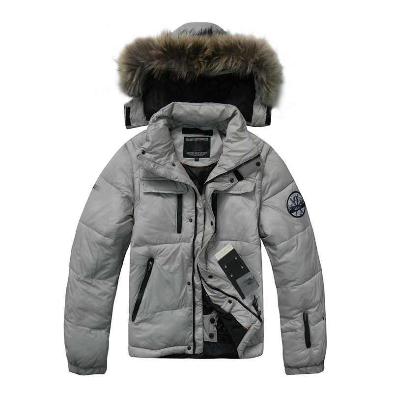 384eb8967e65b 2018 de alta calidad invierno abajo chaqueta hombres Casual grueso caliente  abajo abrigos 90% pato