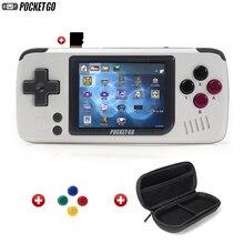 Игровая консоль, PocketGo, игровая консоль в стиле ретро, портативная, 2,4 дюймовый экран, портативные детские игровые плееры с картой памяти