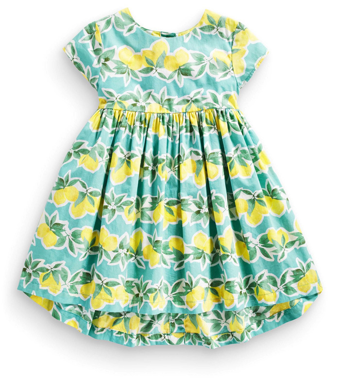 f30473a8e78a9 Girl Summer 2015 Vintage Dress Audrey Hephurn Retro Small Lemon Cotton Tank  Dress with Green Leaves