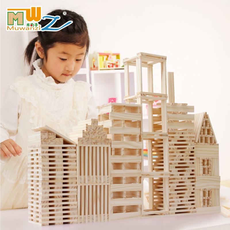 102pcs children kids natural Colorful Wooden building blocks Stacking Game early development Educational Creative Toys free ship 1 set of 100pc children kids natural wooden build blocks montessori sensorial early development educational material