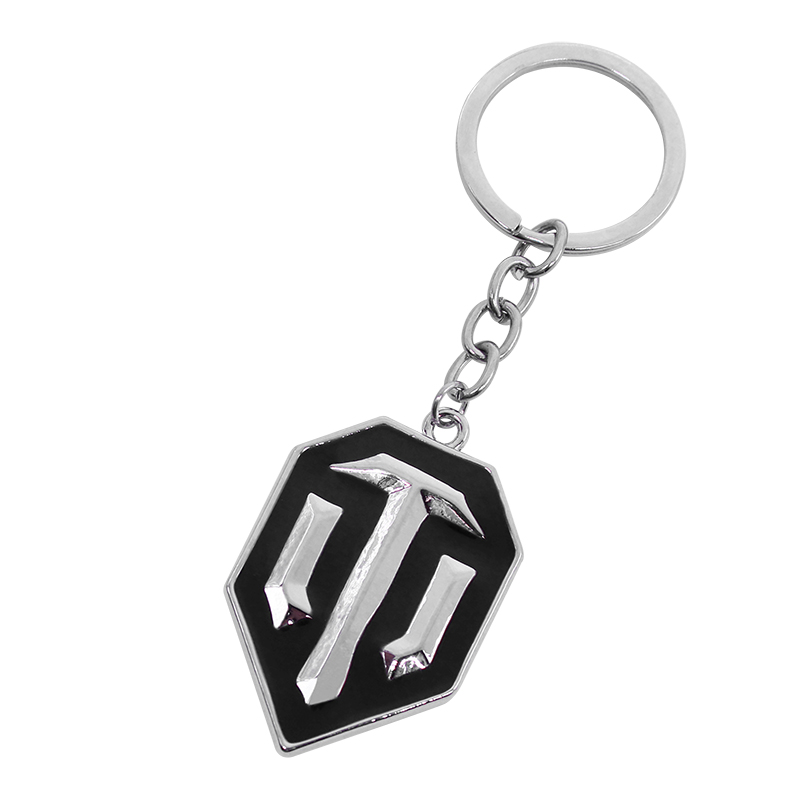 Classic Battle Game World Of Tanks WOT Alloy Keychain Trendy Badge Metal Key Chain Jewelry Games Metal Keychains Dropshipping