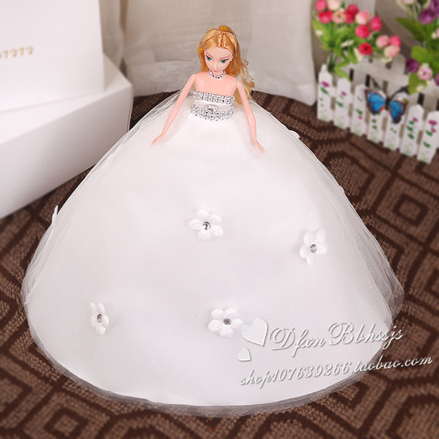 Children Kurhn Elsa Sweets Dolls Clothes Evening Dress Mini Bride Dresses Set For Kids China Doll
