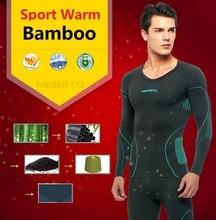 Бесплатная Доставка, Бренд мужской наборы, Новый фитнес зима теплая Функциональное термобелье. Бамбука кальсоны,