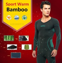 Livraison gratuite, sports de plein air de marque hommes ensembles, nouveau fitness hiver chaud sous-vêtements thermiques fonctionnelles.Bamboo long johns,