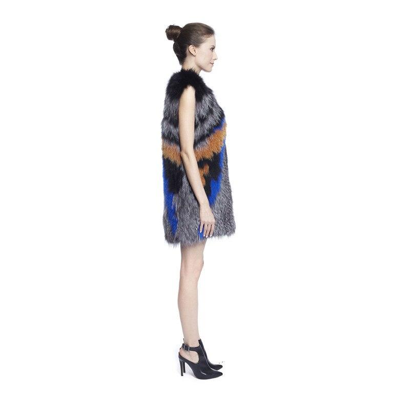 Renard Réel Fourrure Veste As Femmes O Picture Avec Manches cou Zy88021 De Mode Couvert Bouton Sans Argent Gilet Mince Luxe Le XpqxCBIw