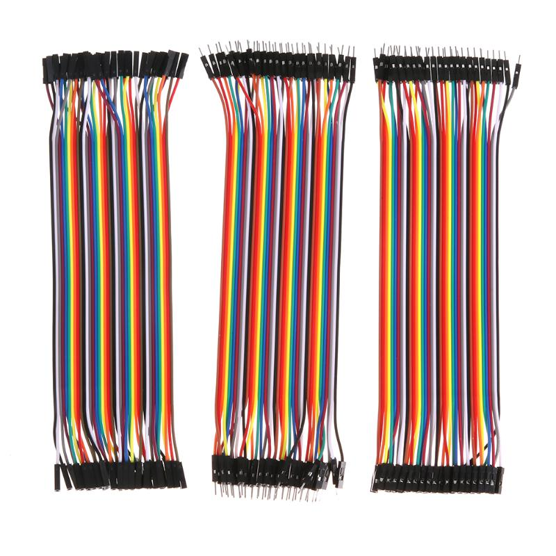Dupont line 20cm male to male jumper wire Dupont cable breadboard cable jump wire For Raspberry Pi Arduino Breadboard acehe 40 pin color breadboard cable jumper wire cable with 2 54mm spacing pin headers 20cm breadboard for arduino