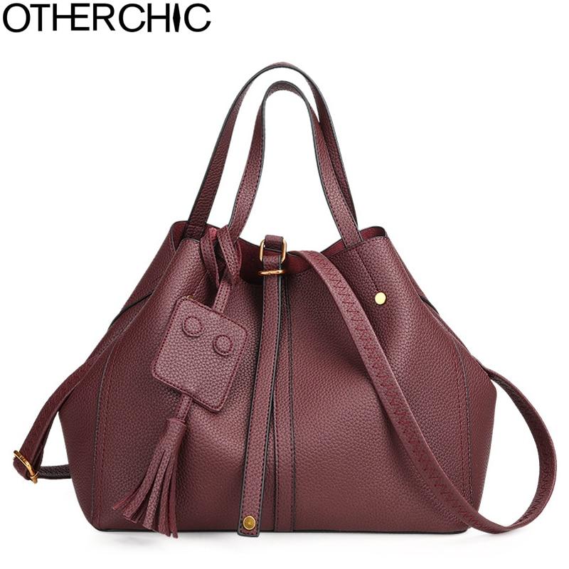 OTHERCHIC Oversized Women Handbags Tassel Luxury Shoulder Bag All Match Big Tote Bags Fashion Women Bag Crossbody Bags L-7N10-05 цена