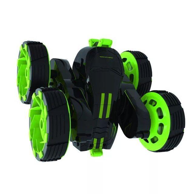 Saltar Salto Carro 2.4 GHz RC Carro com Rodas Rotação Flexível do DIODO EMISSOR de Luz de Controle Remoto do Robô Carro de Presente Para As Crianças