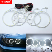 For BMW 3 Series E46 Convertible Coupe Cabrio 2004 06 Ultra Bright SMD White LED Angel Eyes Halo Ring Kit Daytime Running Light