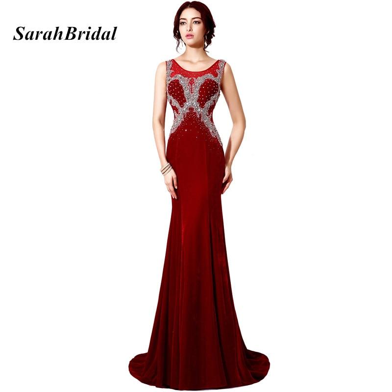 ᗜ Ljഃ2017 Elegant Burgundy Long Mermaid Evening Dresses With ...