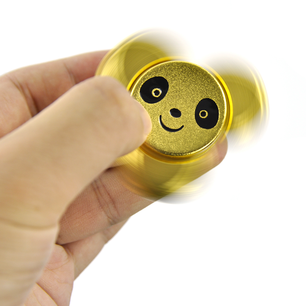 Anti-Anxiety Hand Spinner Bearing Focusing Fidget Panda Model Toys EDC Focus Toy for Kids & Adults-Best Stress Reducer ADHD pudcoco metal boys girls rainbow fidget hand finger spinner focus edc bearing stress toys kids adults