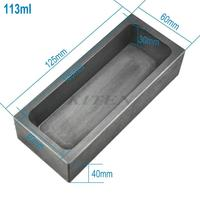 113ML High Purity Refining Graphite Casting Melting Ingot Mold For Gold Silver Metal