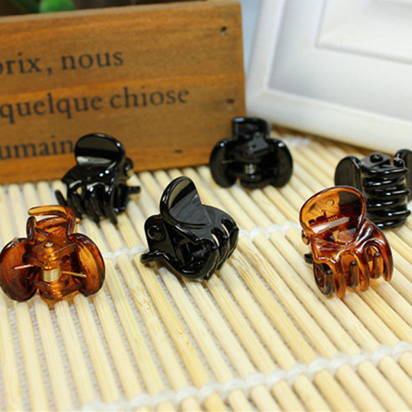 10 pcs/sets Fashion Women crab Hair claw clip Girls Brown Black Plastic Mini Hairpin Claws Hair Clip Clamp For Women Gifts halloween party zombie skull skeleton hand bone claw hairpin punk hair clip for women girl hair accessories headwear 1 pcs