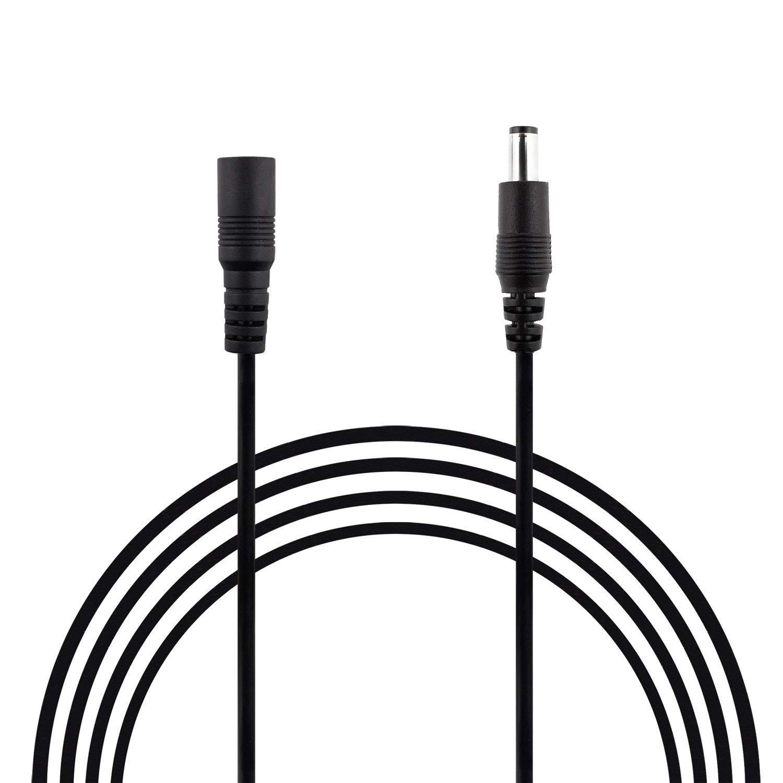 Blanco y negro de 1 M 2 M 3 M 4 M 5 M 10 M DC 12 V Cable de extensión 5,5mm * 2,1mm cable de alimentación macho hembra para cámara CCTV electrodomésticos