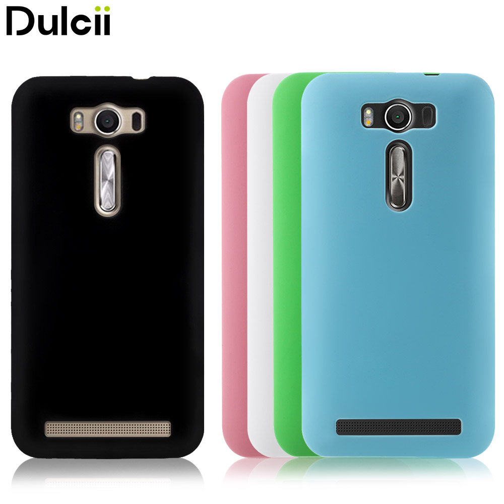 Dulcii For Zenfone2 Laser Ze500kg Ze500kl Case Rubberized Pc Hard Alumunium Bumper Asus Zenfone 2 55 Cover