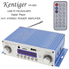 купить HI-FI Digital Audio Player Car Amplifier FM Radio Stereo Player SD USB DVD MP3 Input with Remote  Control for Home Audio Car онлайн
