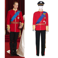 Prince William Wedding Uniform Men's Halloween Cosplay Costumes Custom made