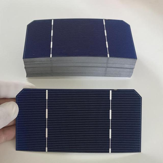 """25 יחידות 125 מ""""מ * 62.5 מ""""מ ALLMEJORES Monocrysatlline תאים סולריים 1.4 W 0.5 V כל חתיכה עבור diy 12 V 35 W פנל סולארי מטען"""