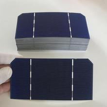 ALLMEJORES 25 adet 125mm * 62.5mm Monocrysatlline Güneş pili 1.4 W 0.5 V Için her parça diy 12 V 35 W GÜNEŞ PANELI şarj cihazı