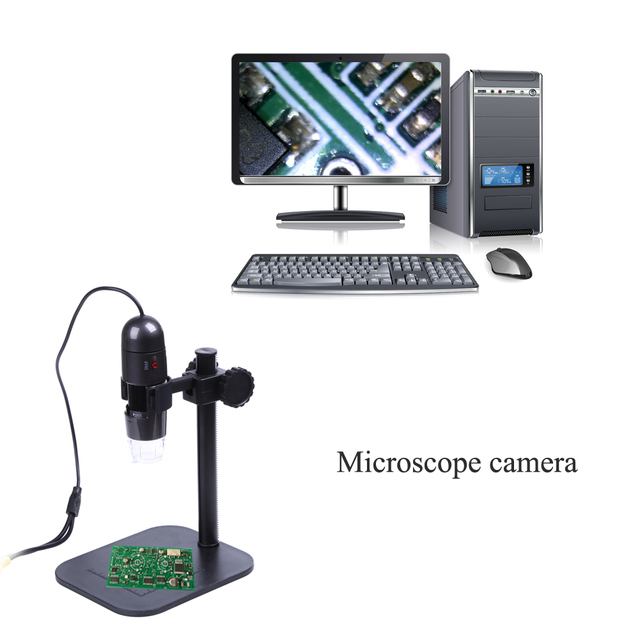 8 LED 40000mLux Teacher Tool Cheap Microscope Teaching TV Microscope Camera Video Microscopes For Windows 8/10 WIN XP/VISTA 7 32