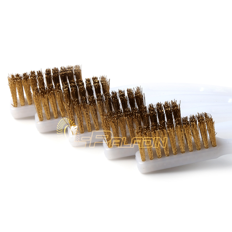 1 piece 3*10 lines Brass Wire Brush Derusting Brush Surface Cleaning Brush Paint Removal Brush triangle cleaning brush